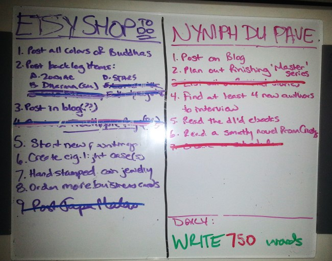 To Do Lists for Shop & Writing